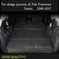 Tapis de coffre de voiture sur mesure tapis intérieur en cuir tapis de voiture pour dodge journey JC Fiat Freemont 2009-2017