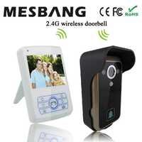 Mesbnag villa video llamar a la puerta de 3,5 pulgadas pantalla digital timbre intercomunicador con cámara envío gratis