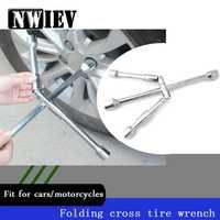NWIEV tipo cruz llave plegable herramientas de reparación de automóviles para Nissan Qashqai Opel Astra J H Kia Ceed Sorento Skoda octavia A5 Accesorios