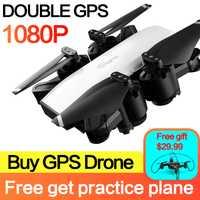 S20 drone HD 1080 P cámara con doble GPS ME sigue FPV y logopeda RC Quadcopter plegable Selfie de vídeo en directo para regalo principiantes