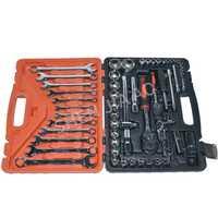 61 unids/set llave de llave del coche de la máquina nave servicio de reparación Kit de herramientas con trinquete robusto