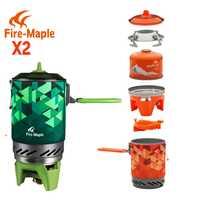 FMS-X2 X3 de arce de fuego compacto-estufa de Camping Intercambiador de Calor Pot camping equipos de Flash Personal sistema de cocina