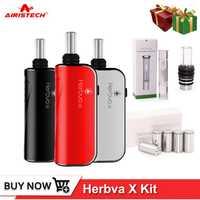 Airistech Herbva X hierba seca Vape Kit pluma de vaporizador 1000 mah bobina de calefacción cabeza Core de Vapor de agua de vidrio de Bubbler de vaporizador Kit