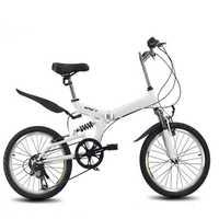 Bicicleta plegable de 20 pulgadas 6 velocidad variable bicicleta de carretera bicicleta de montaña para niños bicicleta Plegable ligera portátil