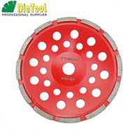 DIATOOL 7 Inch (180mm) Single Row Cup Wheel For Concrete, Grinding Disc, Grinding Wheel, Bore 22.23mm