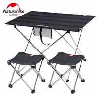 Naturel randonnée pliable en aluminium léger Portable retrousser en plein air pliant Table de Camping Patio en métal pliable Table de pique-nique