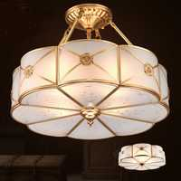 Americano lámpara de cobre chino lámpara de techo lámpara simple europeo moderno dormitorio ZL307