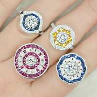 AINUOSHI 10 K 14 K 18 K oro sólido joyería anillo pendientes pulseras colgantes joyería conjunto personalizado