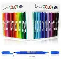 36 Colores Set Doble composición Twin Tip Arte Bosquejo de Dibujos Animados Marcador bolígrafos Rotuladores Acuarela Doble Pellizco Marcador Arte DIY de Dibujo de La Pluma