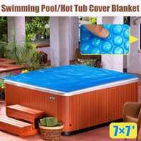 210x210 cm cuadrado familia piscina de hidromasaje cubierta manta chico adulto niños azul terraza jardín al aire libre jugar piscina cubierta