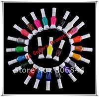 Caliente 24 colores de dos vías Manicura polaco Cepillos y barniz de la pluma polaco 24 unids/set opcional estampación Manicura # wj106