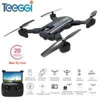 Mini Drone RC pliable Teeggi F196 avec caméra HD 2MP hélicoptère quadrirotor RC localisation de débit en option VS Visuo XS809S SG700