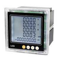Display LCD multifunción medidor de energía de CC DC 0-1000 V 0-5A DC V W KWH medidor de panel con RS485 comunicación