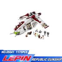 Nuevo Lepin 05041 serie genuina The Republican Gunship Set juguetes educativos de construcción 75021 legoed