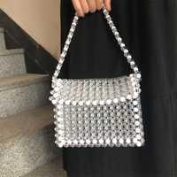 Nuevo bolso de perlas transparente con cuentas de cristal bolso de mujer Mini pequeño bolso de fiesta verano Vintage marca de lujo Dropshipping al por mayor