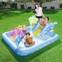 Los niños jugando piscina inflable bebé cuadrados piscina engrosamiento de jardín de plástico piscina cubierta piscina al aire libre juguetes inflables