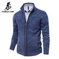 Pioneer Camp hommes cardigan chandail célèbre marque vêtements slim fit zipper mâle chandails top qualité cardigan pour hommes