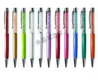 Plana de cristal bolígrafo imprimir el logotipo de promoción pluma bolígrafos