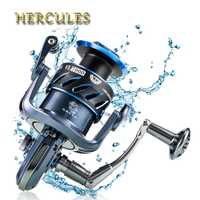 Pesca Hércules Reals cuerpo Full Metal Spinning Reel alta velocidad g-ratio 4,9: 1/5. 5:1 Pesca carretes con 5 + 2 rodamientos de bolas carrete de la mosca