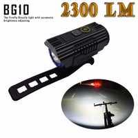 IMALENT BG10 Smart-adapt Luz de bicicleta CREE XHP50 LEDS 2300 lúmenes con carga USB y batería 26350 para Faro de bicicleta
