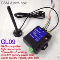 Nuevo 8 canal GL09 Super mini GSM sistemas de alarma SMS alarma sistema de seguridad más adecuado para la batería operado de alerta