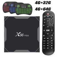 Android 8,1 X96MAX Amlogic S905X2 Android TV BOX 4 GB 64 GB Smart TV 2,4g y 5 GHz Dual Wifi Bluetooth 1000 m 4 K Set-top Box X96.