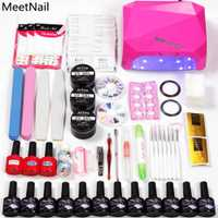 Uñas arte 36 W UV lámpara LED secadora y 12 Gel de Color de esmalte de uñas kit de herramientas de uñas de Gel barniz laca manicura kit de herramientas