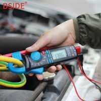 BSIDE ACM91 Mini Digital pinza medidor DC/corriente AC 100A precisa 1mA multímetro profesión la reparación del coche voltímetro amperímetro de
