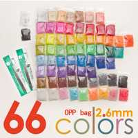 MM 2,6mm Fuse Beads 66 Color (33000 beads + 3 piezas PCs pegboard + 5 Iron Paper + 2 Tweezers) Hama Beads Diy Kids Toy Craft Perler Beads venta