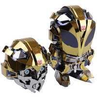 MU 3D Nano rompecabezas abejorro cabeza reemplazable YM-L045-C modelo de Metal de corte por láser de rompecabezas modelo juguetes para adultos, regalo