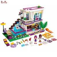 644 piezas Pop piezas Star Livi's House Bricks Emma Mia figuras bloques de construcción niñas Series juguetes para niños compatible Legoing Friends