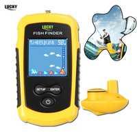 Suerte inalámbrico FishFinder Sonar señuelo de pesca 120 m operar de pescado icono pantalla w/Sonar eco sirena de alarma RL49-0065 pescado finder