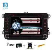 Besina 7 pulgadas 2 din Car DVD GPS radio estéreo reproductor para Volkswagen VW golf 6 touareg T5 passat B6 sharan Touran de Tigua de polo asiento