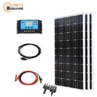 Boguang solar 300 w sistema kit 3*100 w panel solar módulo fotovoltaico Mono celular 30A controlador de cable para cargador de batería para el hogar de 12 v