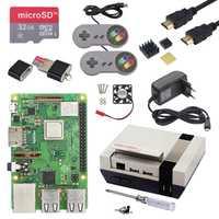 Raspberry Pi 3 Modelo B, modelo B + B Plus) juego + kit de potencia + 32G tarjeta SD + Cable HDMI + disipador de calor + último NESPi + para Retropie
