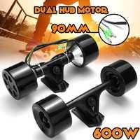 600 W Kit de Motor de eje de Scooter de Doble accionamiento de alta potencia DC sin escobillas Motor de rueda de Control remoto para el monopatín eléctrico
