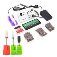 30000 tr/min électrique Machine à ongles manucure forets ongles acrylique perceuse lime forets pédicure Kits manucure 204