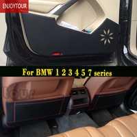 Coche de frente la puerta trasera del asiento Anti-retroceso mat accesorios para BMW serie 1 F20 2 F45 F22 3 E90 F30 4 F32 5 E60 F10 G30