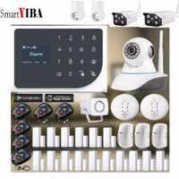 SmartYIBA inalámbrico WIFI GSM sistema de alarma Android IOS APP alarma hogar seguridad intruso alarma Kits Video IP Cámara relé salida