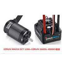 Hobbywing EZRUN MAX10 SCT 120A sin escobillas ESC + 3660 G2 3200KV/4000KV/4600KV Sensorless Motor Kit por 1/10 RC coche camión F19286/8