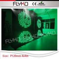 14ft * 14ft linterna LED RGB DJ estrella P12 vídeo LED cortina de luz