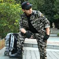Trajes de camuflaje uniforme militar de camuflaje verde del ejército táctica al aire libre formación de camping deportes conjuntos 6xl AA2396 YQ