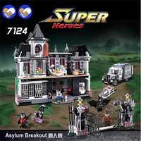 Un juguete un sueño nuevo DECOOL 7124 genuino serie Marvel Batman película asilo Arkham bloques de construcción ladrillos juguetes con Legoingly 07055