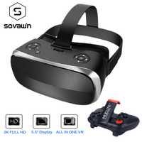 5,5 '3G RAM Android 2 K HD Wifi HDMI caja de vídeo inteligente gafas de realidad Virtual de todo en uno VR 3D gafas VR Controller