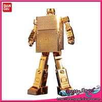 Original Bandai Alma de Chogokin GX-32G24 Golden Warrior Gold Lightan 24k chapado en oro acabado figura de acción