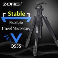 Zomei Q555 Professionnel Trépied En Aluminium Flexible Caméra Portable Trépied Stand Tripes avec Rotule pour appareil photo REFLEX NUMÉRIQUE Smartphones