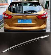 Accesorios FIT 2014 2015 2016 para Nissan QASHQAI J11 CHROME posterior del tronco HATCH LIFTGATE puerta SOPILER cubierta moldura barra tira 1 piezas