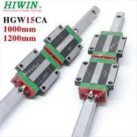 HGR 15mm 2 piezas HGR15 1000mm 1200mm Original Taiwan HIWIN carril lineal de guías con 4 piezas HGW15CA lineal cojinete de bloque de HGW15CC