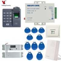 Yobang seguridad RFID lector de huellas digitales biométrico impermeable contraseña teclado electrónica magnética puerta cerradura sistema de Control de acceso