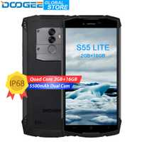 DOOGEE S55 Lite IP68 étanche Smartphone 2 GB RAM 16 GB ROM 5500 mAh 13.0MP MTK6739 Double SIM Double 4G VoLTE 5.5 pouces Android 8.1